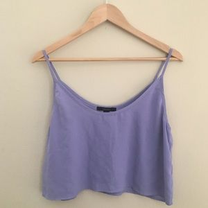 Forever 21 Periwinkle Crop Top Size Large